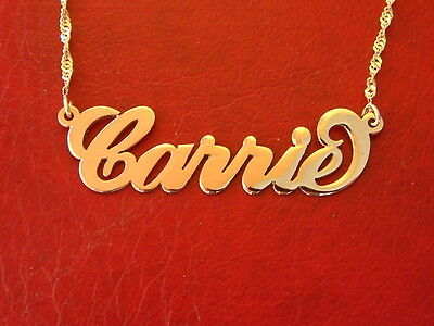 Gold necklace with my name / nameplate solid 14k gold chain 14ct gold ORDR ANY