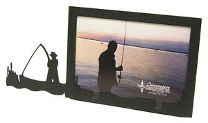Fisherman-in-Boat-Picture-Frame-3-5-034-x5-034-3-034-x5-034-H-Fish-Fishing