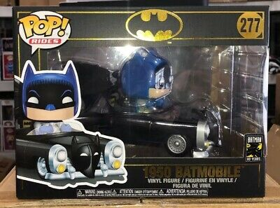 Batman 80TH 1950 Batmobile FUNKO POP Vinyl Figure Ride #277 DC