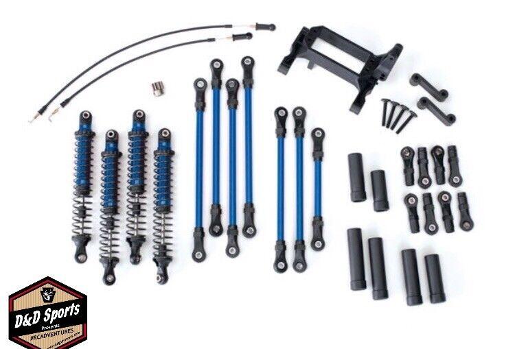 Traxxas 8140X largo brazo Levante el kit completo azul  TRX-4 Ford Bronco Defender