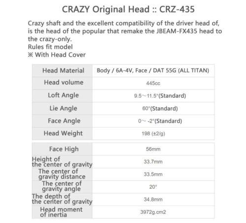 CRAZY-GOLF-JAPAN-ORIGINAL-HEAD-PARTS-CRZ-435-DRIVER