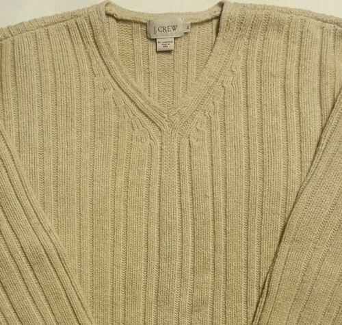 Suéter en Vertical Xl V 100 cuello para de de cordero Con en Crew canalé Cuello J hombre Lana Beige v aRwqgnO