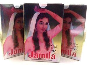 Henna Powder Jamila 3 X 100g Boxes 300g Quality Body Hair Dye Uk