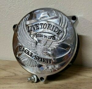 Harley-Eagle-spirit-Chrome-live-to-ride-air-cleaner-cover