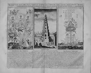 Antique-map-Description-d-039-un-des-plus-fameux-temples-des-Chinoi