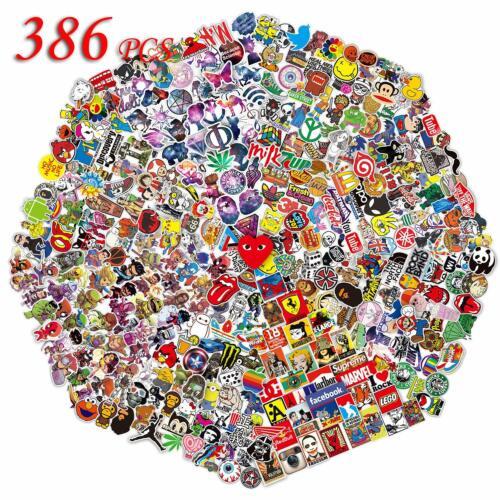 386Pcs Sticker Pack Bomb Vinyl Graffiti for Skateboard Laptop car