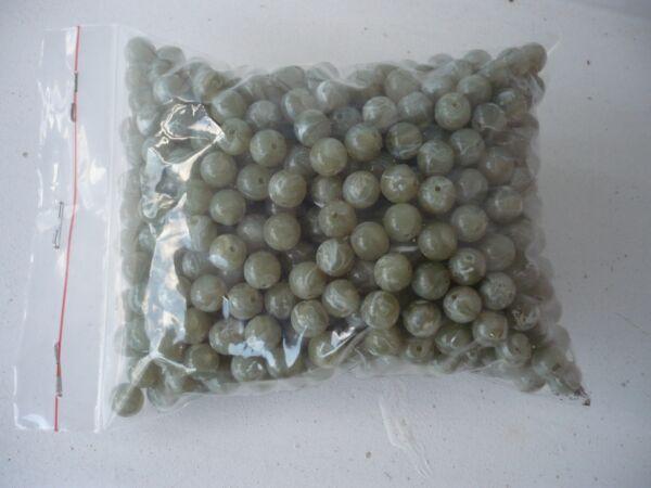 150g Perlen Aus Kunststoff Ca. 500 St.,dunkelgrün Marmoriert,8 Mm, Bohrung 1mm Neueste Technik