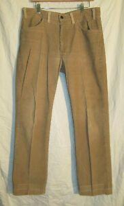 Vintage-Levi-039-s-519-Weiss-Tab-SF-207-Talon-42-USA-Made-hellbraun-Cord-Hose-36-x-30