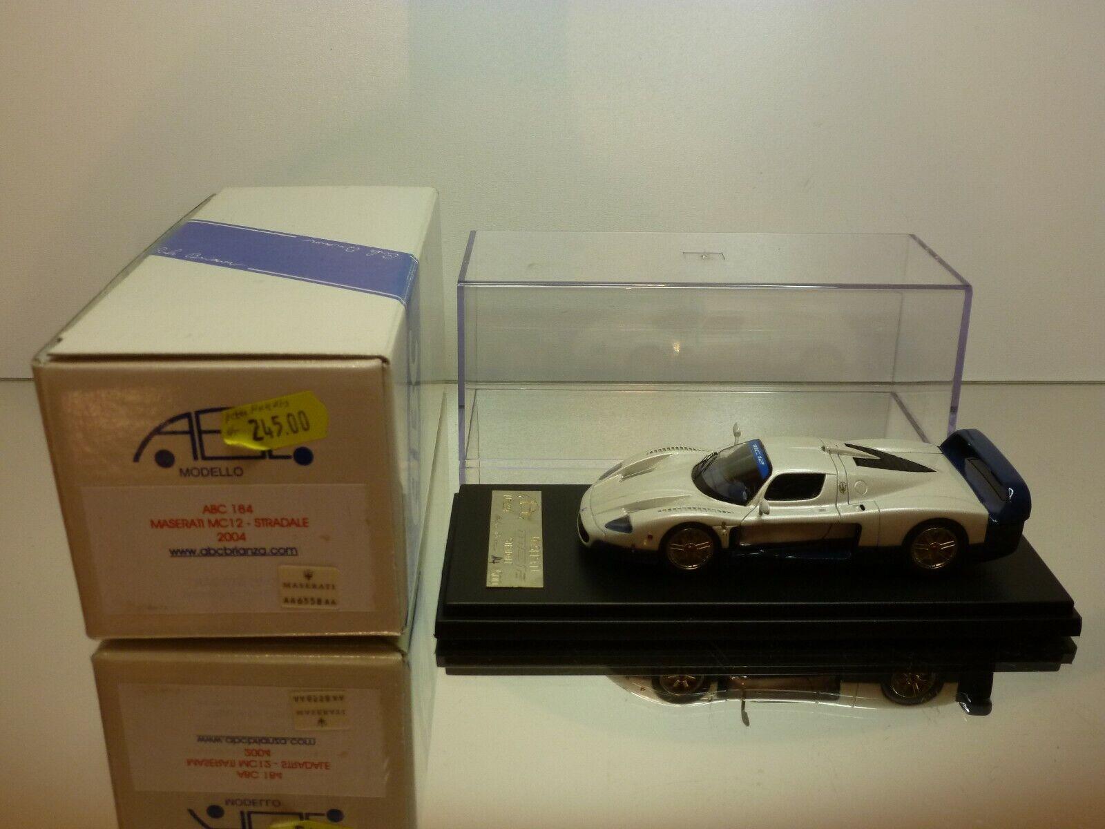 ABC BRIANZA 184 MASERATI MC12 STRADALE 2004 - 1:43 - EXCELLENT IN BOX