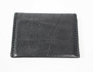 Hand-Made-Leather-Bifold-Business-Card-and-Card-Holder-Wallet-Black