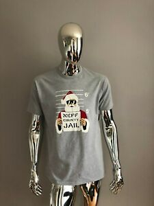Details about NEW MENS NEFF SANTA COUNTY JAIL GRAY T-SHIRT SIZE L