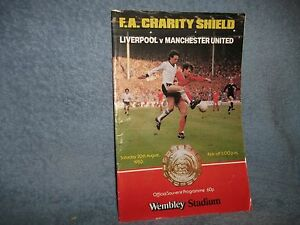 1983 CHARITY SHIELD LIVERPOOL V MANCHESTER UNITED FOOTBALL PROGRAMME - <span itemprop='availableAtOrFrom'>Purley, United Kingdom</span> - 1983 CHARITY SHIELD LIVERPOOL V MANCHESTER UNITED FOOTBALL PROGRAMME - Purley, United Kingdom