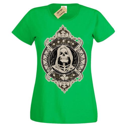 T-shirt Scheletro Teschio Con Cappuccio Con Cappuccio Donna
