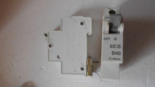 Crabtree Starbreaker B40 MCB BS 3871 early B type M6 FREEPOST.