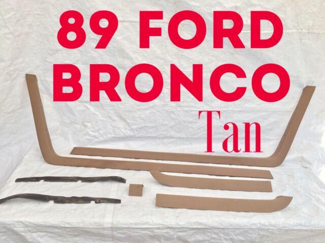 1989 FORD BRONCO HARDTOP Cover Trim HEADLINER GARNISH Tan ...