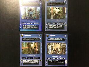 Star-Wars-Game-Card-LOT-Tempest-Scout-1-FOIL-3-4-6-Endor-vehicle-AT-ST-Dark