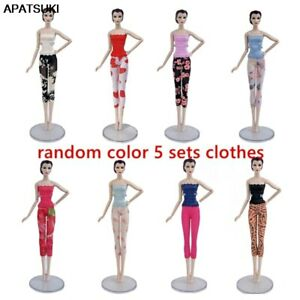"5sets//lot Fashion Doll Clothes for 11.5/"" Doll Lace Top /& Pants Outfits"