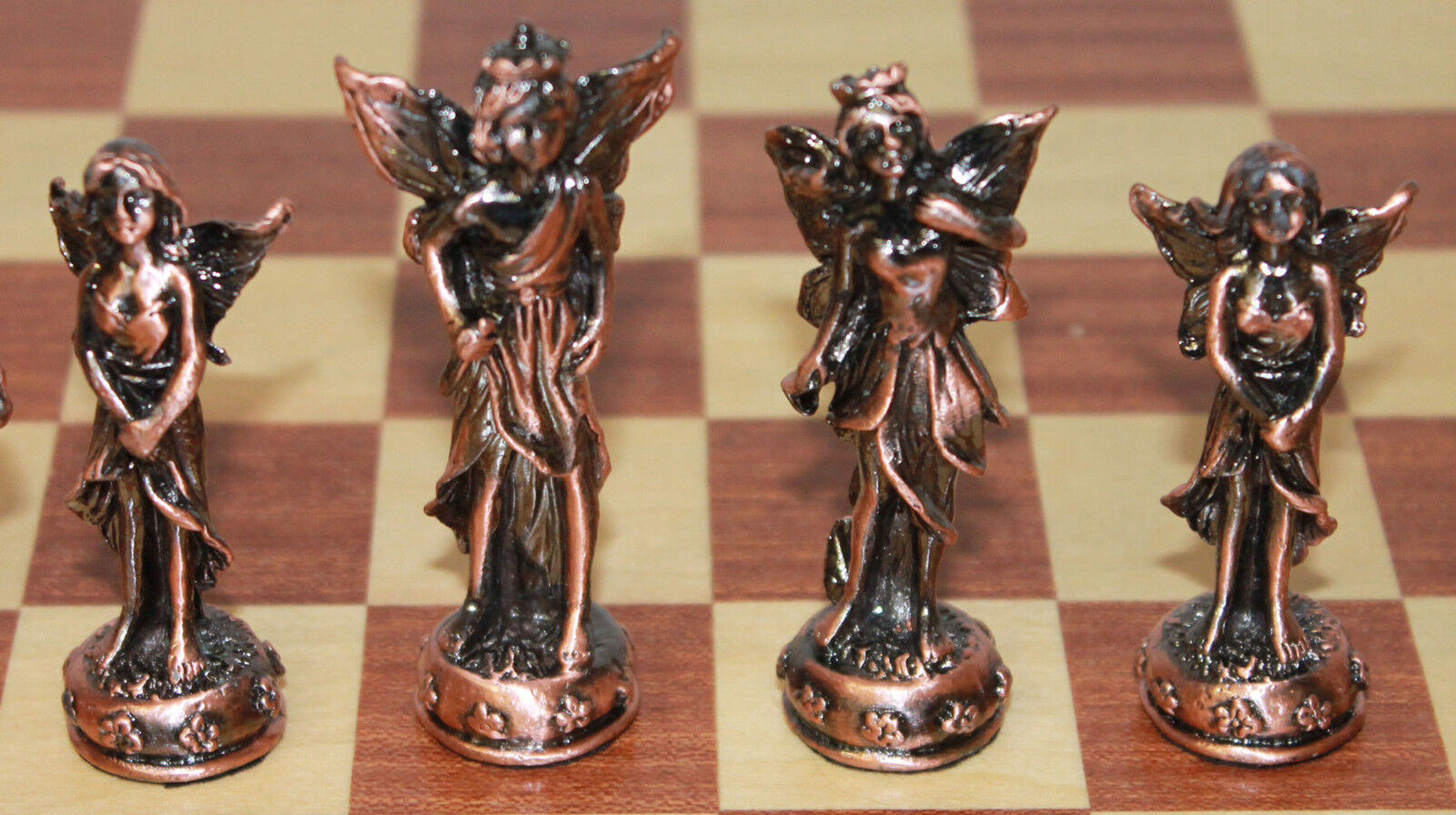 Elf Themed Pewter Chess set. Wood Board   Limited Quantity