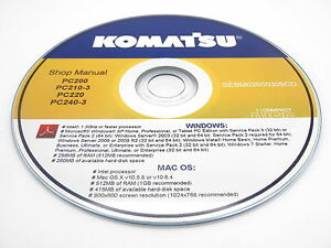 komatsu pc128uu 2 hydraulic excavator shop workshop repair service rh ebay com Parts Manual Owner's Manual