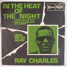 RAY CHARLES: In Heat of the Night STATESIDE R&B 45 w/ PS / Here We Go Again