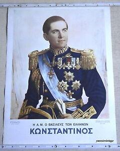 034-KONSTANTINOS-034-COLOUR-POSTER-58-X-43-cm-GREEK-KING-GREECE-ULTRA-RARE-VINTAGE