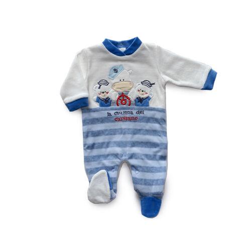 Tutina per neonato in ciniglia Bidibimbo da 0 a 9 mesi T1304 T782