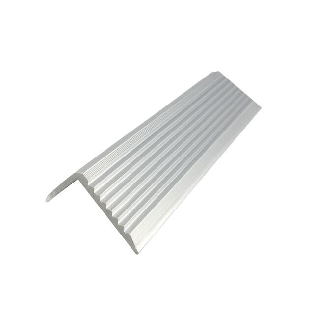 Metal Mate ALUMINIUM STAIR NOSING 43.2x23mm, 1m Length, Mill Finish*Aust Brand