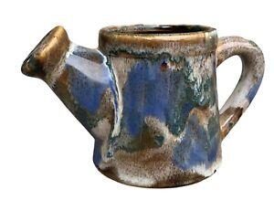 Vintage Hermitage Pottery Mini Marbled Ceramic Watering Can Bud Vase