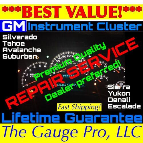 REPAIR SERVICE 2003-06 GM GMC TRUCK Speedometer Instrument Gauge Cluster
