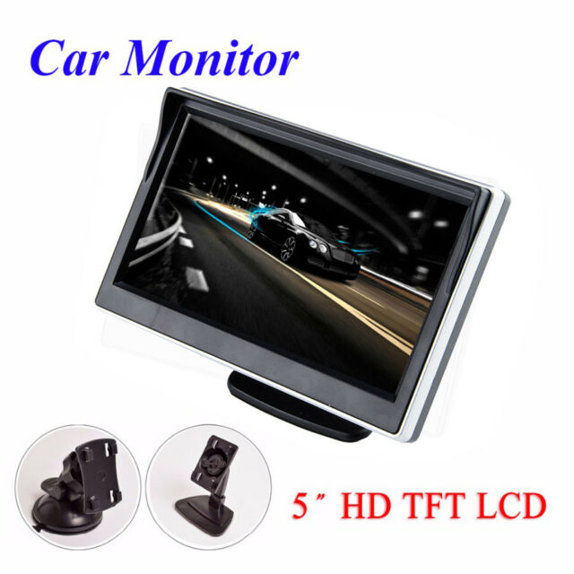 "5/"" TFT LCD Car Monitor Screen For Parking Backup Camera In-visor Video Display"