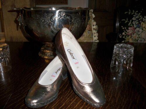Gold 2 Wedge 41 Gabor Shoes Uk Heel 70Sqd