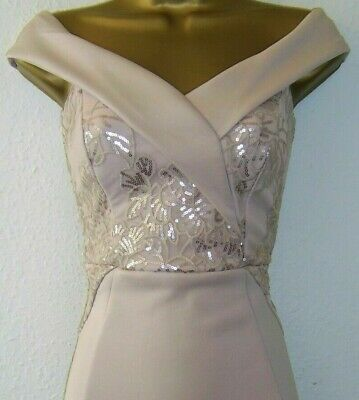 BNWT Lipsy Navy Sequin Embellished Maxi Dress UK 8 10 12