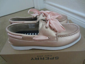 Sperry Top-Sider Rose Gold Leather Slip