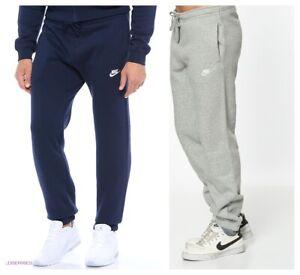 Nike-Mens-Navy-Sweat-Pants-Jogging-Jog-Bottoms-Joggers-Grey-Black-Standard-Fit
