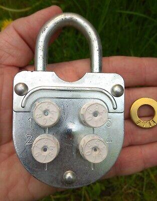 ONE!! Soviet era Working Padlock with key made in USSR 1980s  door Padlock  door locks  collectible padlock  Old style lock with key
