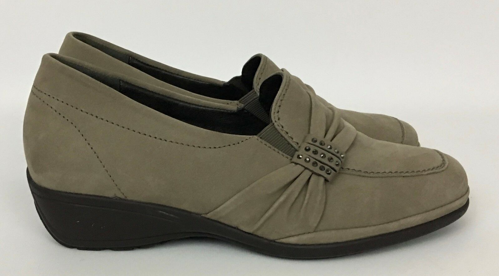 negozio outlet Hoeltzhaus Lindena Taupe Taupe Taupe Nubuck Leather Loafers scarpe Dimensione 4 K US 6 6.5  acquista marca