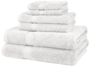 6-Piece-100-Cotton-Towel-Set-Bath-And-Hand-Soft-Absorbent-Towel-Set-White