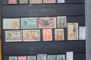 Lot-timbres-anciens-Mexique-Comme-neuf-utilise-F104719