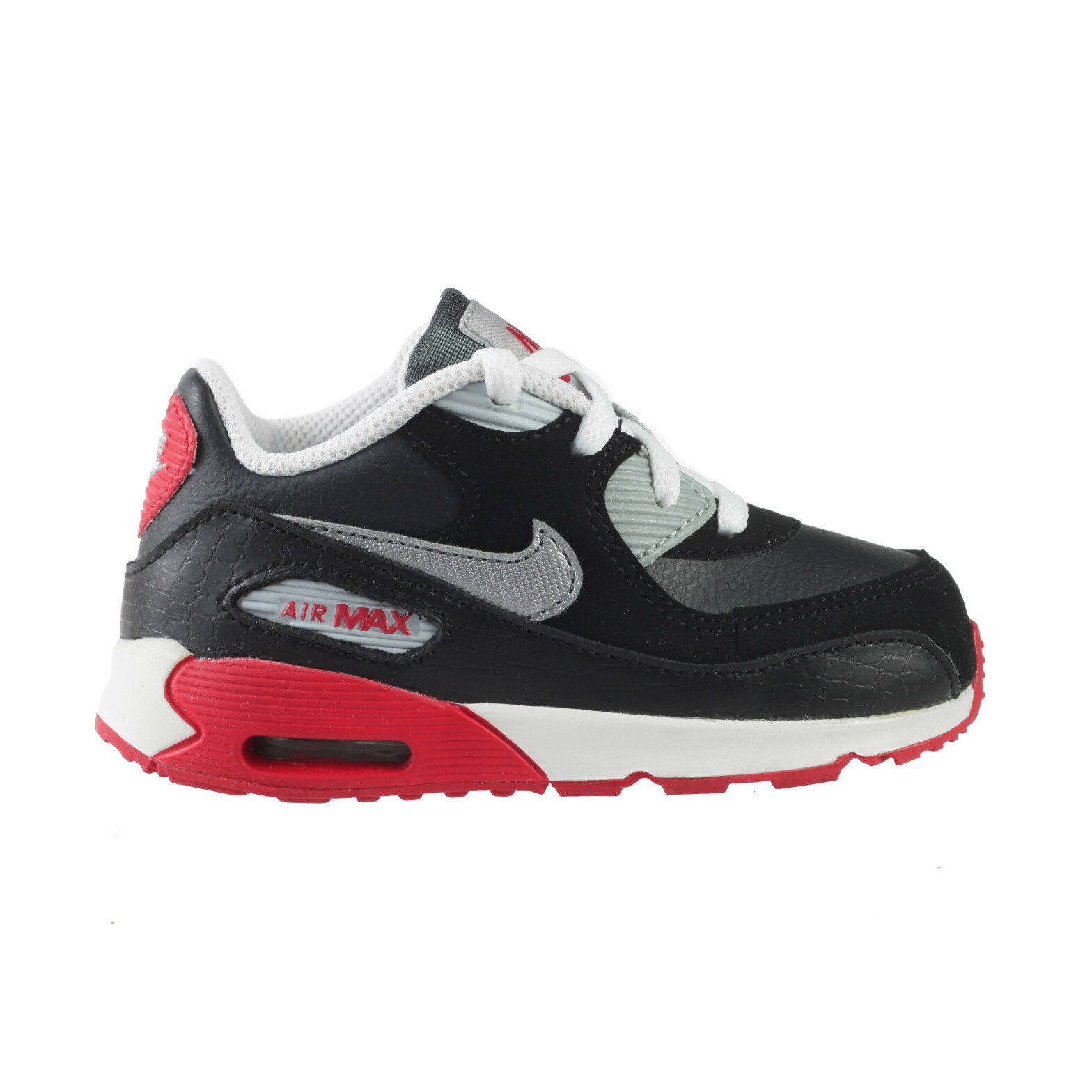 Nike Air Max 90 Toddlers 408110-079 Anthracite Black Pink Shoes Baby Size 2