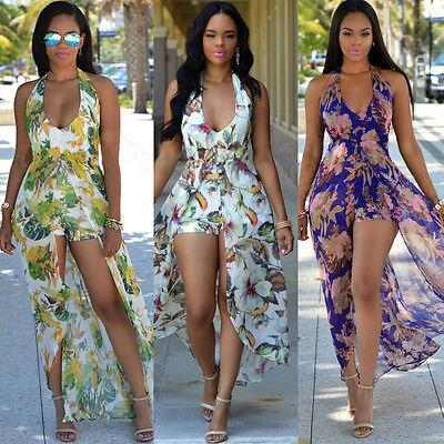 Women Sexy Chiffon Jumpsuit Romper Short Trouser Bodycon Clubwear Playsuit Dress