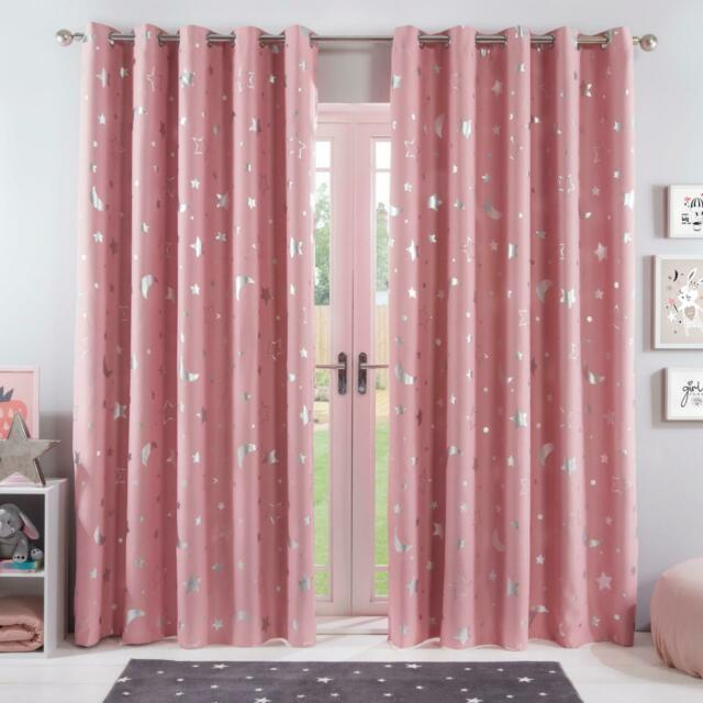 Dreamscene Galaxy Thermal Blackout Curtains Pink 66 X 72 For Sale Online Ebay