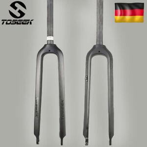 TOSEEK-26-27-5-29-034-MTB-Gabel-Vollcarbon-Mountainbike-Fahrrad-Gerades-Rohr-28-6mm