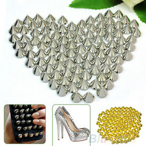 8fe34790b93 Image is loading 100-PCS-LOTS-RIVETS-STUDS-SPIKES-BEADS-LEATHERCRAFT-