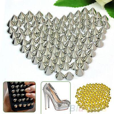 100 Pcs 10mm Stud Round Spike Rivet Craft Bag Leather Craft Accessories Magic