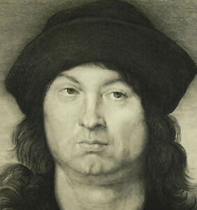 Engraving-Xx-c1900-After-Raphael-Sanzioraphael-No-Portrait-Of-Young-Man-c1502