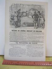 Vintage Print,19th Century BILLIARDS TABLE,Petit Journal,Pour Rire