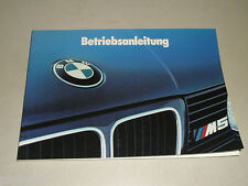 Betriebsanleitung Handbuch BMW Motorsport 5er Reihe E 34 M5, Stand VIII/1991