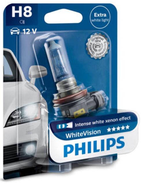 PHILIPS Autolampe H8 35 Watt 12 Volt 64212 PGJ19-1 White Vision Xenon Effekt PKW