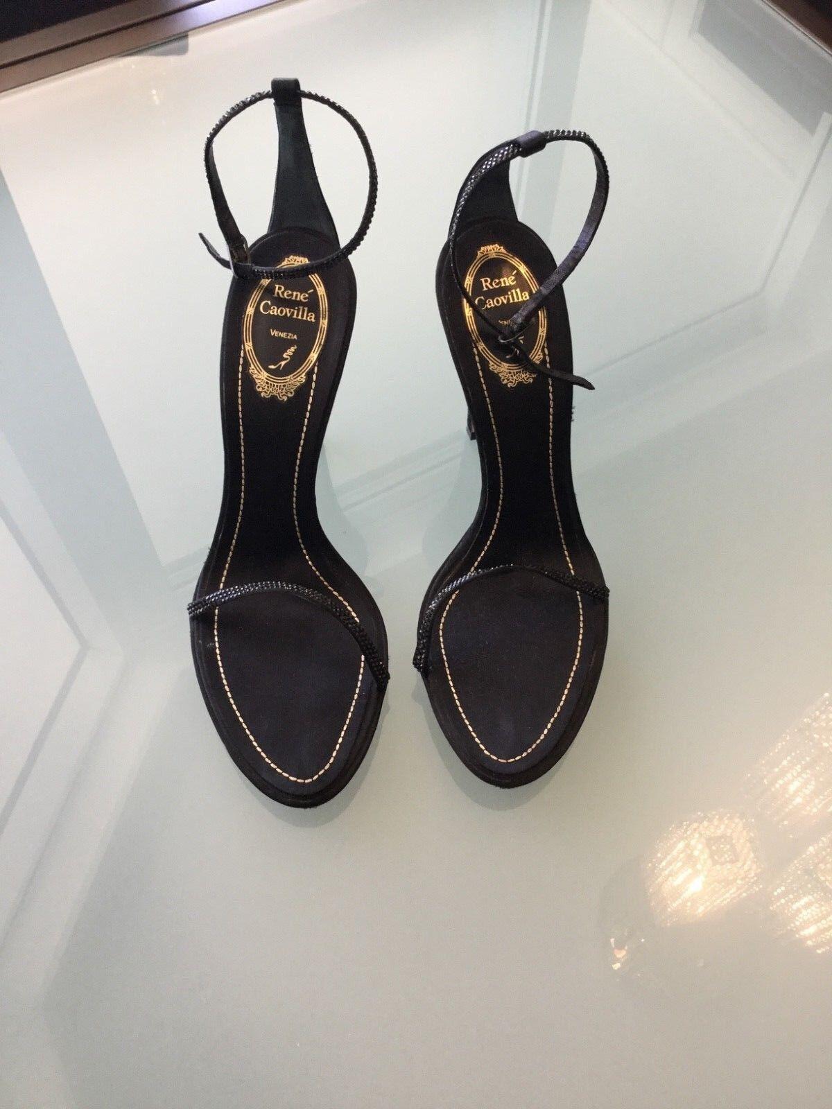 colorways incredibili RENE CAOVILLA VENEZIA crystal crystal crystal heels Donna's scarpe sandals 40 10 bronze nero  conveniente