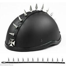 "Spikes Warhawk / Mohawk   IRON CROSS / CHROME / METAL Helmet Spike Strip 1 1/8"""